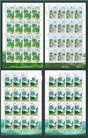 China 2001-25 Liupanshan Mountain Stamps Sheets Mount Forest River Pool Lotus Plant Flora - 1949 - ... People's Republic