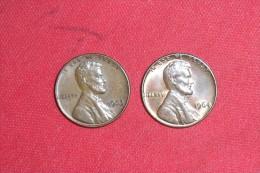 Lot De 2X  One Cents(Dates Se Suivent) /USA De 1963 TTB+ Et 1964 En TTB++ - 1909-1958: Lincoln, Wheat Ears Reverse