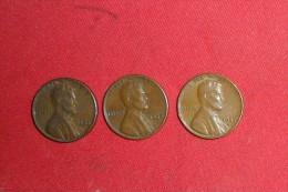 Lot De 3 Monnaies/One Cents /USA De 1953; 1956 Et 1957D En TTB+. - Federal Issues