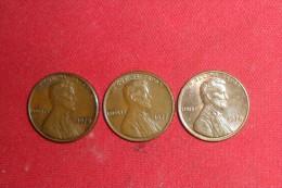 Lot De 3 Monnaies/One Cents 1975 / 1977 TTB+ Et 1978 SUP. - Federal Issues