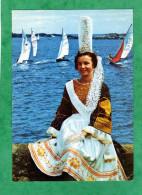 Folklore De Bretagne Jeune Fille En Costume Bigouden -Rouanez Kerne (Royaume De Cornouaille) - à Identifier - Bretagne