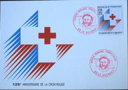 Carte Postale 1er JOUR - LA CROIX - ROUGE 1988 - 93 - Le BOURGET  Le  19 Nov.1988 - 1980-89