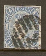 1865 EDIFIL  NE 2 USADO  MUY RARO ALTISIMO VALOR - 1850-68 Reino: Isabel II