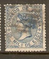 1868 EDIFIL  97 USADO - 1850-68 Kingdom: Isabella II