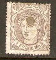 1870 EDIFIL  111 USADO TALADRADO - Used Stamps