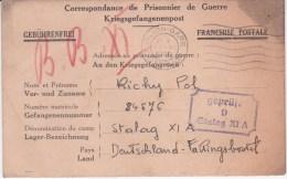 STALAG XI A - Geprüft 9 Violet - Fallingbostel - Oblitération Dijon Gare 27 Novembre 1940 - Guerre De 1939-45