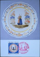 Carte Postale 1er JOUR - LA CROIX - ROUGE - 1990 - 29 - QUIMPER  Le  5 Mai 1990 - Cartes-Maximum