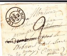 DROME - 1849 - LETTRE Avec OR NON IDENTIFIEE Avec T14 De LE BUIS - IND 5+ - Storia Postale
