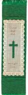 Marque Pages En Tissu Et Papier Dentelé - Religieux - Christ Died That We Might Live - Marque-Pages