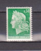 FRANCE / 1967 / Y&T N° 1536Aa ** (de Roulette Sans N°) : Marianne De Cheffer 30c Vert - Gomme D´origine Intacte - France