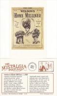 Postcard Weldon's Home Milliner C1910 Hat Fashion Home Dressing Nostalgia Repro - Fashion