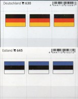 2x3 In Farbe Flaggen-Sticker Estland+BRD 4€ Kennzeichnung Von Alben Karten Sammlungen LINDNER 630+645 Flag Eesti Germany - Klasseerkaarten