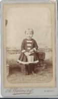 Photo d'enfant /en pied / Albert Warnery/Elbeuf/D Hutinet/Paris/Vers 1885   PH199