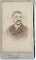 Photo d'Homme /Buste/ Albert Warnery/Elbeuf/D Hutinet/Paris/Vers 1885   PH202