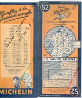 Carte Géographique MICHELIN - N° 052 LE HAVRE - AMIENS 1948 - Roadmaps