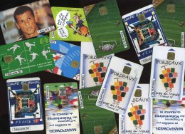 - FRANCE . LOT DE 14 TELECARTES COLLECTIONS FOOTBALL 98 . DOUBLES DE COLLECTION . - Phonecards