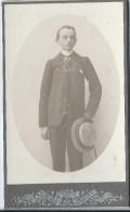 Photo de jeune Homme /en Pied/ Avec Canotier/Photographe anonyme/Vers 1900   PH189