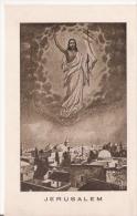 JERUSALEM (ILLUSTRATION AVEC CHRIST ET VILLE) - Israele