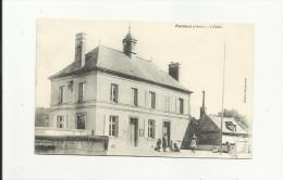CPA:PERNANT.(dép02).ENFANTS DEVANT L'ECOLE.AYANT CIRCULEE. - Other Municipalities
