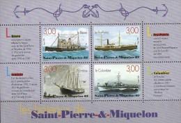 ST PIERRE ET MIQUELON BLOC N° 7 NEUF **    Les Bateaux - Blocks & Sheetlets
