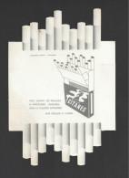 Pub  Cigarette Gitanes  Blanche  -  17. X 12 Cm - Sigaretten - Toebehoren