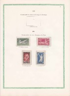 Série 183/186* JO De Paris 1824 Dans Page D'album - Unused Stamps
