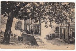 CPA (23) : AUZANCES - Route De Clermont (Avec Petite Animation) - Auzances
