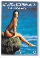 CARTE POSTALE MODERNE FEELING : JEUNE FEMME PIN UP SEXY EROTIC SEINS NUS . - Pin-Ups