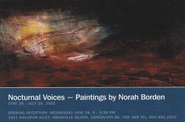 Nocturnal Voices by Norah Borden Railspur Alley Studios Granvuil