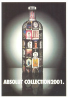 PROMOCARD N°  2789  ABSOLUT COLLECTION2001 - Pubblicitari