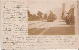 TRAIN A VAPEUR BELLE CARTE PHOTO NON SITUEE 1902 - Trains
