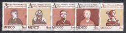 Mexico MH Scott #1335a Strip Of 5 Different Contemporary Artists - Mexique