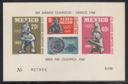 Mexico MNH Scott #C310a Souvenir Sheet Of 4 Imperf 1968 Summer Olympics, Mexico City - Mexique