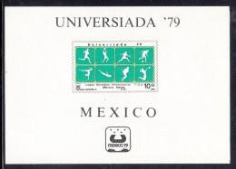 Mexico MNH Scott #C614 Souvenir Sheet 10p Various Sports - Universiada '79 - Mexique