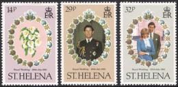 St. Helena, 3 Stamps 1981, Sc # 353-355, Mi # 342-344, MNH - Saint Helena Island
