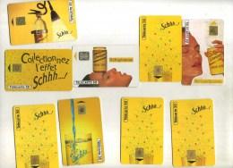 - FRANCE . LOT DE 9 TELECARTES COLLECTION SCHWEPPES . DOUBLES DE COLLECTION . - Phonecards