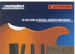 PROMOCARD N°  2942  MENTADENT MTV SUPERSONIC - Advertising