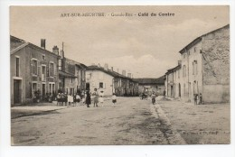 CPA 54 ART SUR MEURTHE Grande Rue - Café Du Centre - Animation - Other Municipalities