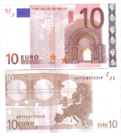 Italia Italy 10 € Trichet J007H4 Unc Cod.€.134 - 10 Euro
