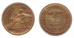 ** 2 FRANCS 1921 CDC ETAT  TTB **2F262** - I. 2 Francs