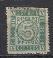 AP705 - SPAGNA 1872 Reggenza , Il N. 116 Senza Gomma - 1870-72 Reggenza