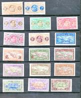 SAINT PIERRE ET MIQUELON  :série Compléte 17 Valeurs  N°78  à 93 Gomme D´origine Parfaite - Unused Stamps
