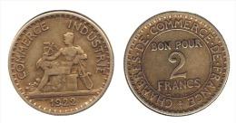 ** 2 FRANCS 1922 CDC  ETAT TTB  **2F267 ** - I. 2 Francs