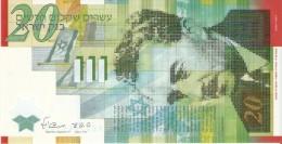 BILLETE DE ISRAEL DE 20 SHEQEL DEL AÑO 2008   (BANKNOTE)  SIN CIRCULAR-UNCIRCULATED - Israel