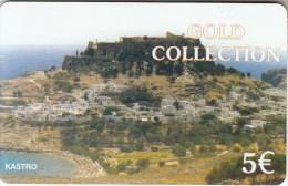 GREECE - Castle, Greek Island, Petroulakis Prepaid Card 5 Euro, Used - Landschappen