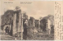 CPA REPUBLIQUE DOMINICAINE DOMINICAN REPUBLIC SANTO DOMINGO Ruins Timbre Stamp 1907 - Dominican Republic