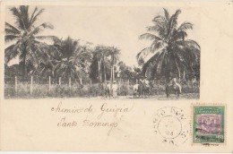 CPA REPUBLIQUE DOMINICAINE DOMINICAN REPUBLIC SANTO DOMINGO Chemin Dans La Campagne Timbre Stamp 1904 - Dominican Republic