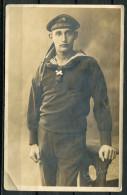"""CPA S/w Photo AK German Empires ,DR-Deutsche Marine """" Artillerie Matrose Der Marine """" 1 AK Blanco - Weltkrieg 1914-18"""