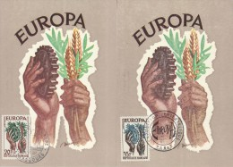 FRANCE 1957 EUROPA CEPT MAXIMUMCARDS - Europa-CEPT