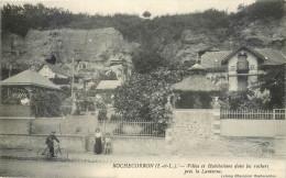 Cpa, Rochecorbon, Villas Et Habitations Dans Les Rochers Pres La Lanterne - Rochecorbon
